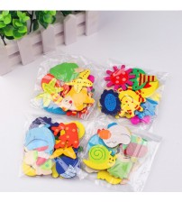 12pcs/lot Wooden Cartoon Fridge Magnet  Fridge Stickers Animal Cartoon Colorful Kids Toys Child Educational Toys Gifts