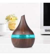 300ml USB Electric Aromatherapy Air Diffuser Wood Grain Ultrasonic Air Humidifier Cooling Fog Machine