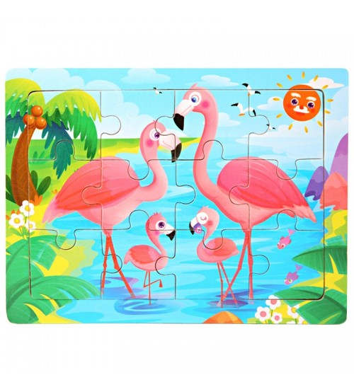 Mini Size 15*10CM Kids Toy Wood Puzzle Wooden 3D Puzzle Jigsaw for Children Baby Cartoon Animal/Traffic Puzzles Educational Toy